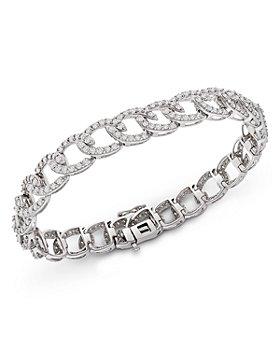 Bloomingdale's - Diamond Link Bracelet in 14K White Gold, 5.0 ct. t.w. - 100% Exclusive