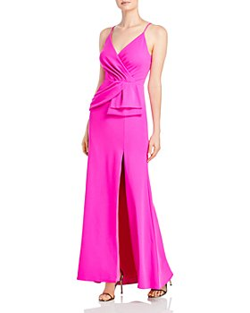 AQUA - Sleeveless Peplum Gown - 100% Exclusive