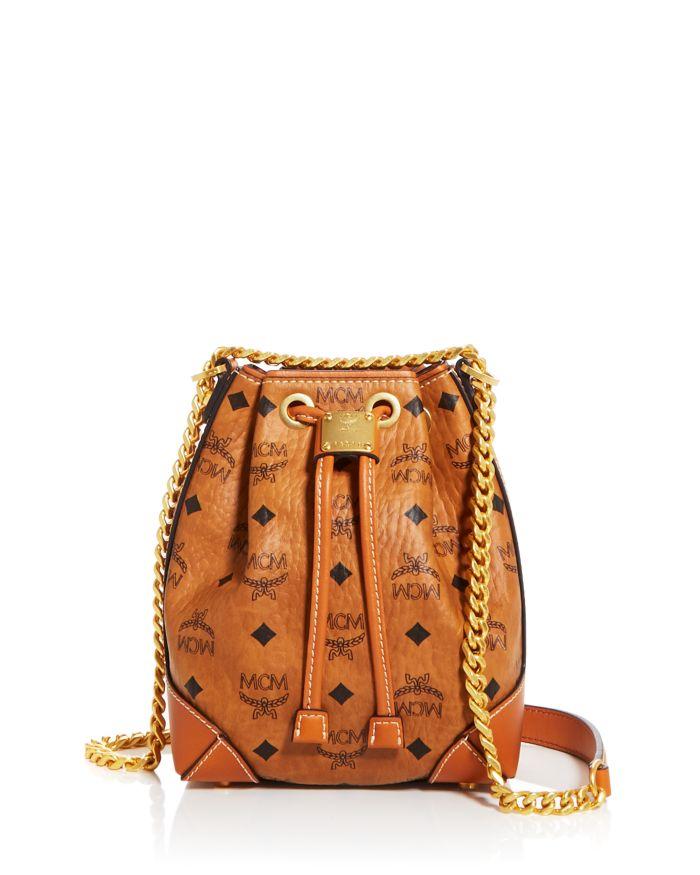 MCM Visetos Drawstring Bucket Bag  | Bloomingdale's