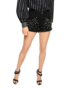 Pinko Muteking Rhinestone Cutoff Shorts-Women