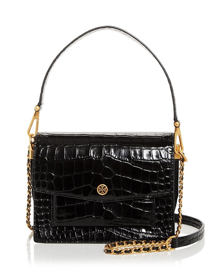 Tory Burch - Robinson Croc Embossed Leather Crossbody