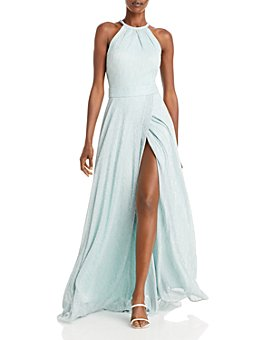 AQUA - Metallic Crinkled Gown - 100% Exclusive