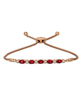 Bloomingdale's - Ruby and Diamond Bolo Bracelet in 14K Rose Gold - 100% Exclusive