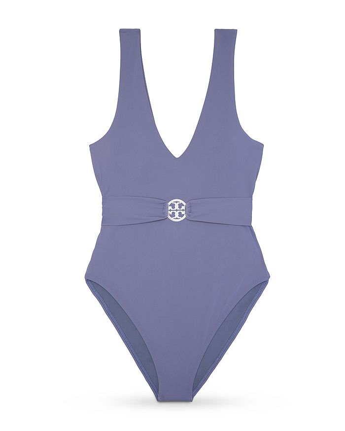 Tory Burch - Miller Plunge One-Piece Swimsuit