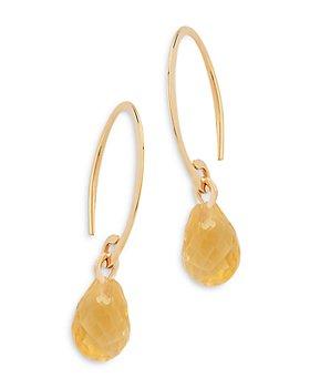 Bloomingdale's - Citrine Briolette Mini Sweep Drop Earrings in 14K Yellow Gold - 100% Exclusive