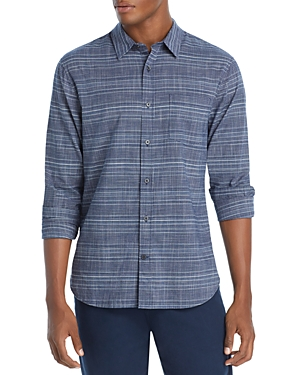 Vince Graphic Plaid Button Front Shirt
