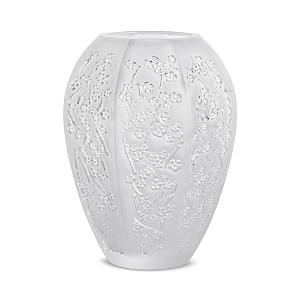 Lalique Home decors SAKURA CLEAR VASE, MEDIUM