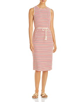 Vero Moda - Oya Striped Belted Midi Dress