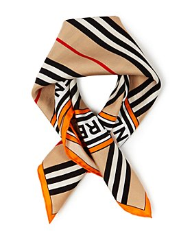Burberry - Icon Stripe & Logo Square Silk Scarf