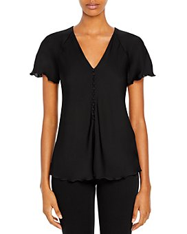 Theory - Silk Blend Button Front Top