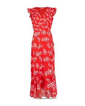 ALLSAINTS - Dela Jasmine Printed Faux Wrap Dress