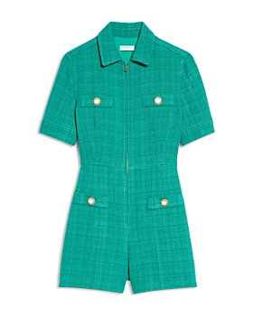Sandro - Jacky Zip Up Tweed Romper