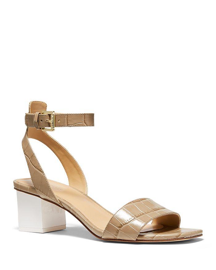 MICHAEL Michael Kors - Women's Petra Mid Heel Strappy Sandals