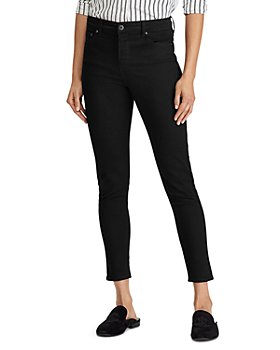Ralph Lauren - High Rise Ankle Skinny Jeans in Black
