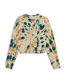 MOTHER - The Loafer Tie Dyed Cropped Sweatshirt