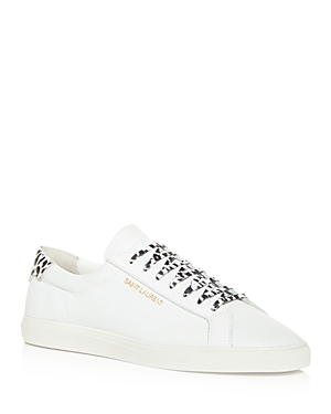 Saint Laurent Men's Andy Perforated Low Top Sneakers