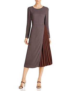 Fabiana Filippi Cady Pleated Midi Dress-Women