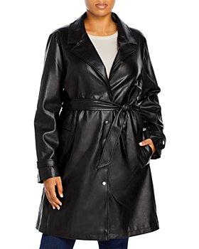 Unreal Fur Plus - Plus Size Belted Heroes Coat