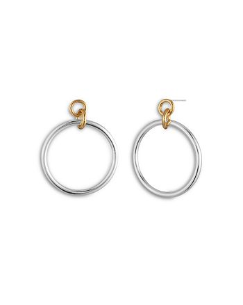 Ralph Lauren - Two-Tone Doorknocker Drop Earrings