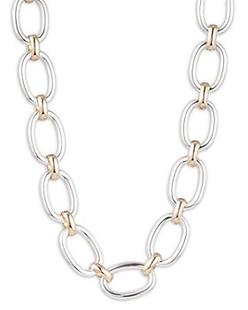 Ralph Lauren - Two-Tone Large Link Statement Necklace, 16""