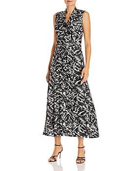 Jason Wu - Zebra Print Silk Midi Dress