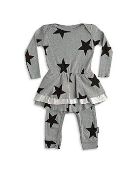 NUNUNU - Girls' Star Print Skirted Overall - Baby