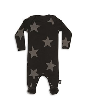 NUNUNU - Unisex Cotton Star Print Footie - Baby