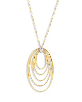 Marco Bicego - 18K Yellow Gold Onde Diamond Long Pendant Necklace, 31.5""