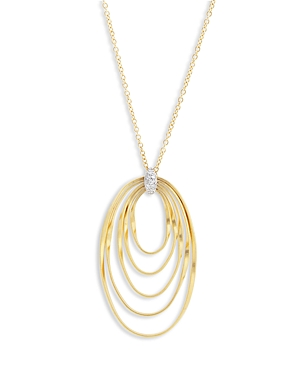 Marco Bicego 18K Yellow Gold Onde Diamond Long Pendant Necklace, 31.5-Jewelry & Accessories