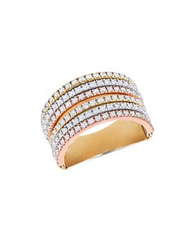 Bloomingdale's - Diamond Multi-Row Ring in 14K Tricolor Gold - 100% Exclusive