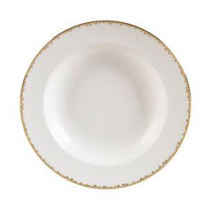 Vera Wang Wedgwood Gilded Leaf Rim Soup Plate