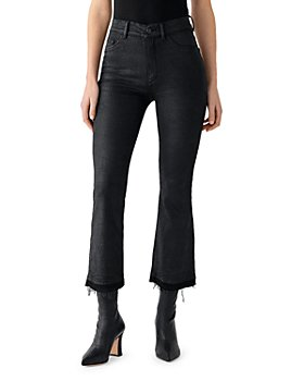 DL1961 - High Rise Cropped Coated Kick Flare Jeans in Harker