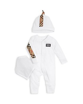 Burberry - Unisex Vintage Check Footie, Hat & Bib Gift Set - Baby