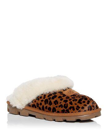 UGG® - Women's Coquette Leopard Print Calf Hair & Shearling Slippers