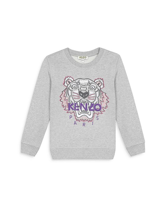 Kenzo - Girls' Embroidered Tiger Sweatshirt - Little Kid, Big Kid