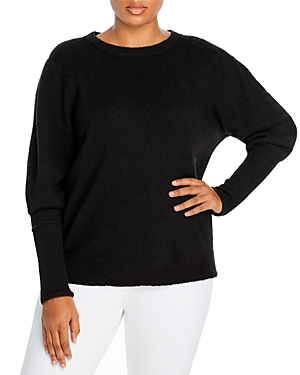 Aqua Curve Plus Size Balloon Sleeve Sweater - 100% Exclusive In Black