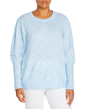 Aqua Curve Plus Size Balloon Sleeve Sweater - 100% Exclusive In Light Blue