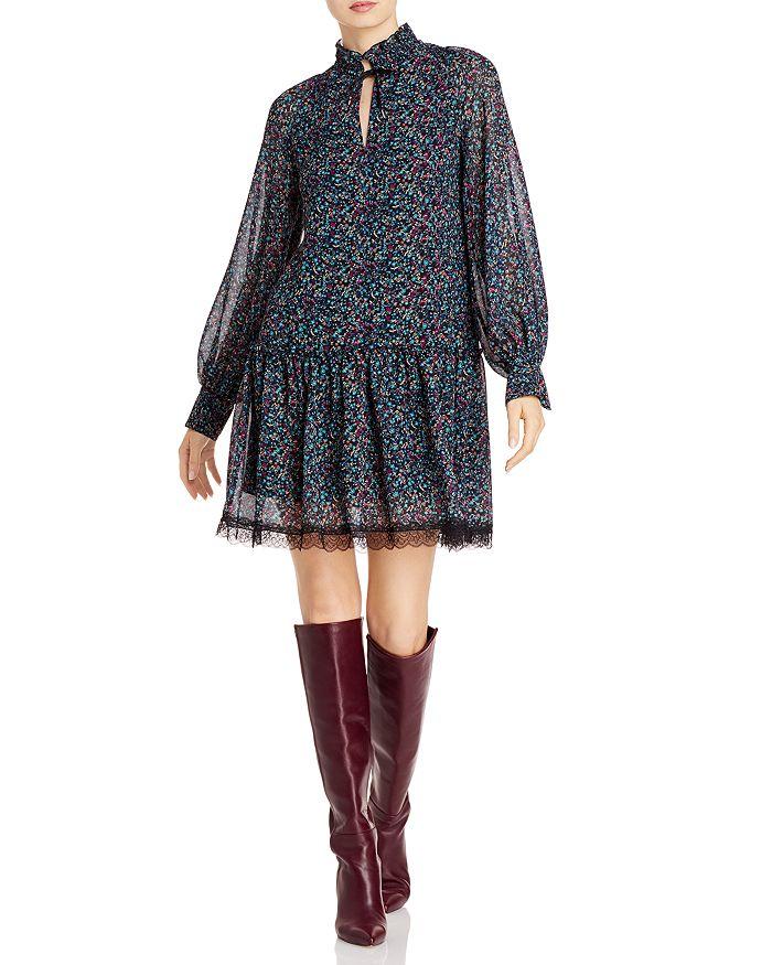 See by Chloé - Floral Haze Lace Trim Dress
