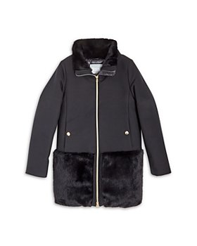 Herno - Girls' City Glamour Faux Fur Jacket - Big Kid