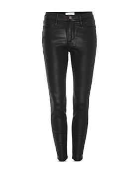 FRAME - Le High Coated Skinny Jeans in Noir Coated