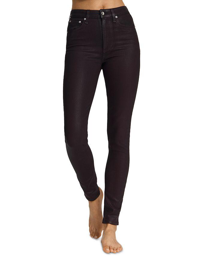 rag & bone - Nina Skinny Jeans in Coated Plum