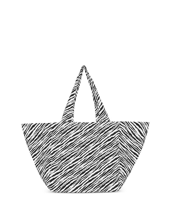 Faithfull The Brand Sorentto Large Printed Tote Bag In Gray