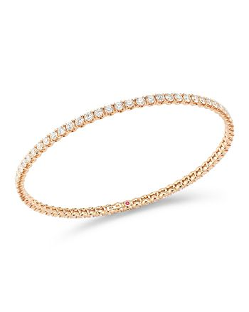 Roberto Coin - 18K Rose Gold Diamond Bangle Bracelet