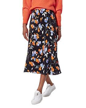 Joie - Floral Print Midi Skirt