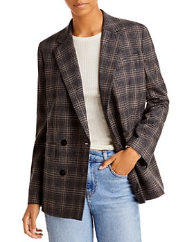 Theory - Double Breasted Plaid Jacket