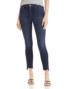 Mother The Looker Frayed Skinny Ankle Jeans in Bombay Lost And Found-Women