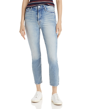 Mother The Dazzler Straight Ankle Jeans in I Confess-Women