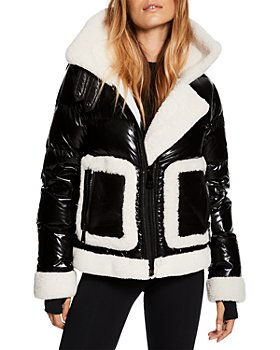 SAM. - Veronica Shearling Trim Puffer Coat