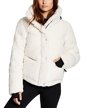 SAM. - Quilted Hooded Fleece Puffer Coat
