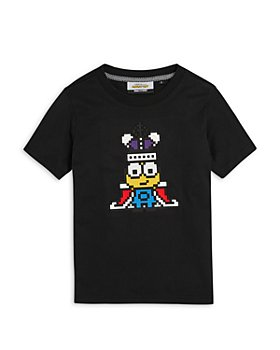 8-Bit by Mostly Heard Rarely Seen - Boys' Mini King Minions Tee - Little Kid, Big Kid